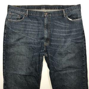 Levis 550 Straight Leg Blue Jeans, Size 50x30